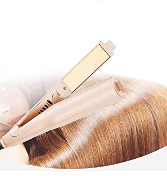 Professional Styling Tool,2 in 1 hair straightener and curler,Gold-plated  Titanium Plates,Dry and Wet