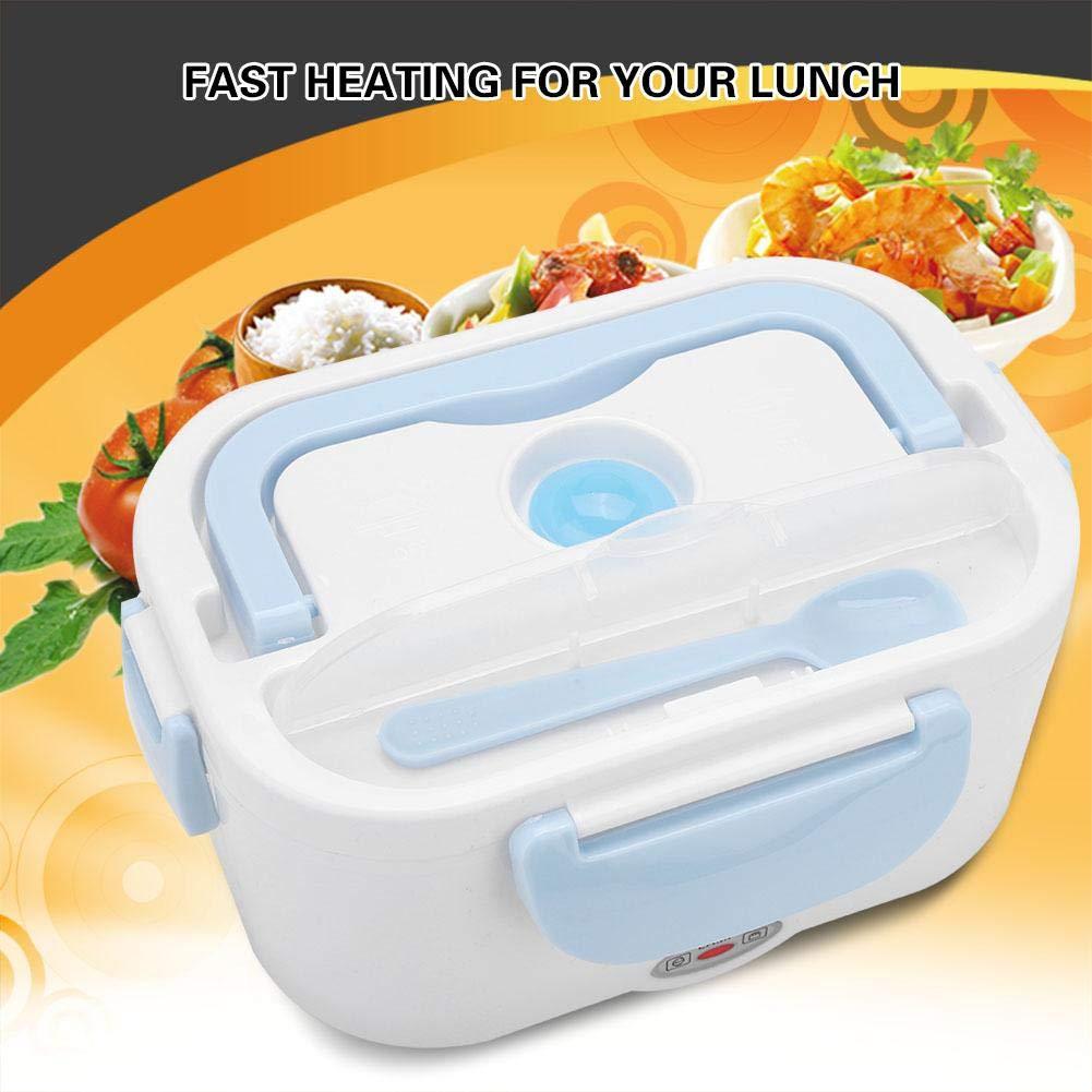 220V Fiambrera el/éctrica Caja de almuerzo port/átil Calentador de comida Caja de almuerzo t/érmico con Contenedor Desmontable Enchufe UE Blue