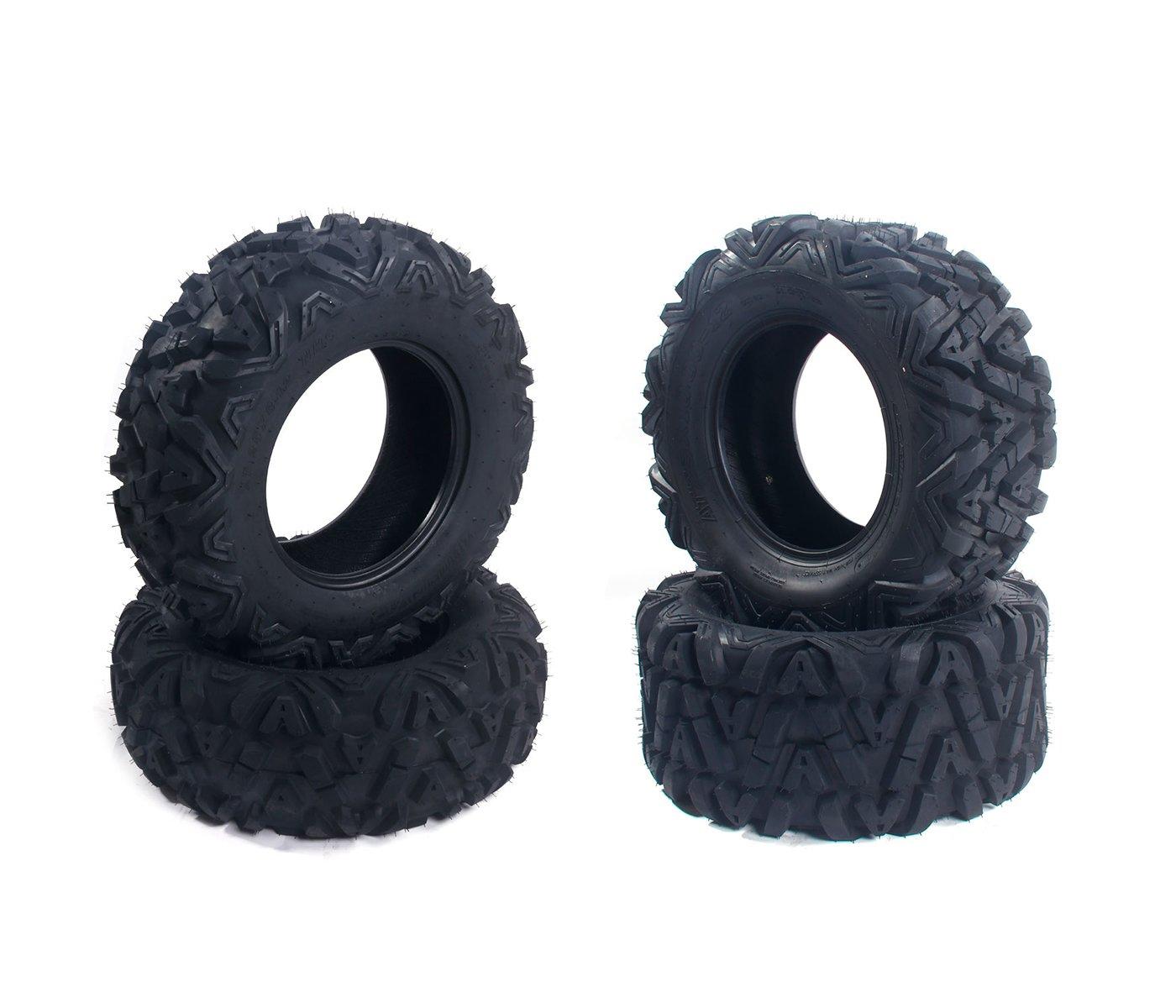 4PCS ATV/UTV Tires Set 25x8-12 Front & 25X10-12 Rear 6Ply