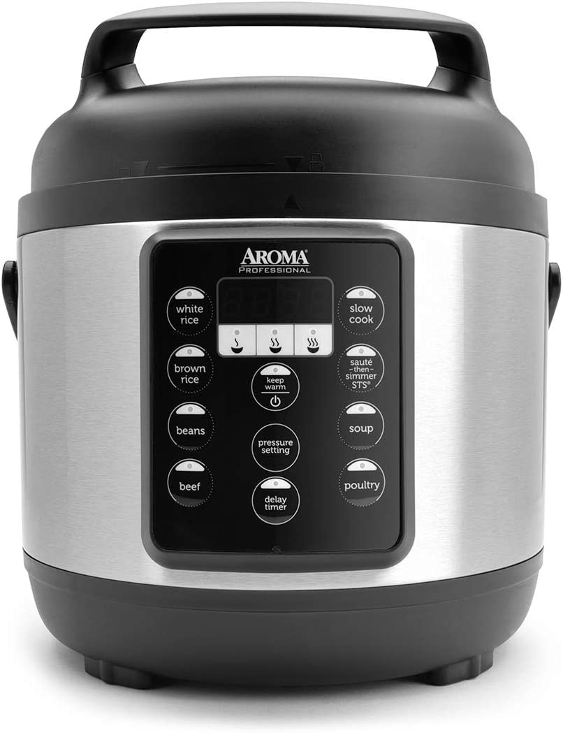 Aroma Housewares (APC-816SB) Aroma Professional Pressure Cooker, 12-Cup (Cooked), Black