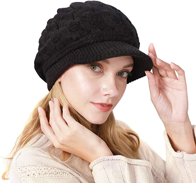 Womens Winter Hat Newsboy Hat