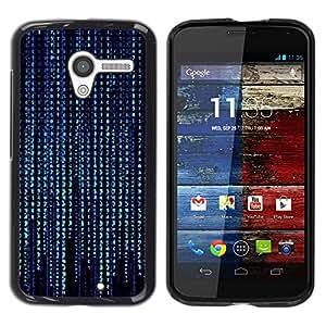 // PHONE CASE GIFT // Duro Estuche protector PC Cáscara Plástico Carcasa Funda Hard Protective Case for Motorola Moto X 1 1st GEN I / Modelo de Código Azul /
