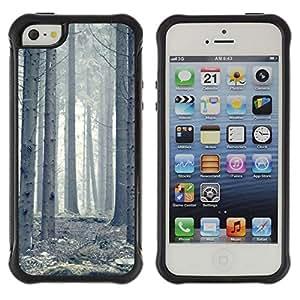 "Hypernova Defender Series TPU protection Cas Case Coque pour Apple iPhone SE / iPhone 5 / iPhone 5S [Planta Naturaleza Forrest Flor 63""]"