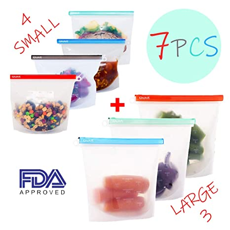 Image Unavailable. Image not available for. Color  Silicone Food Storage  Bags ... 74d434bb691f7