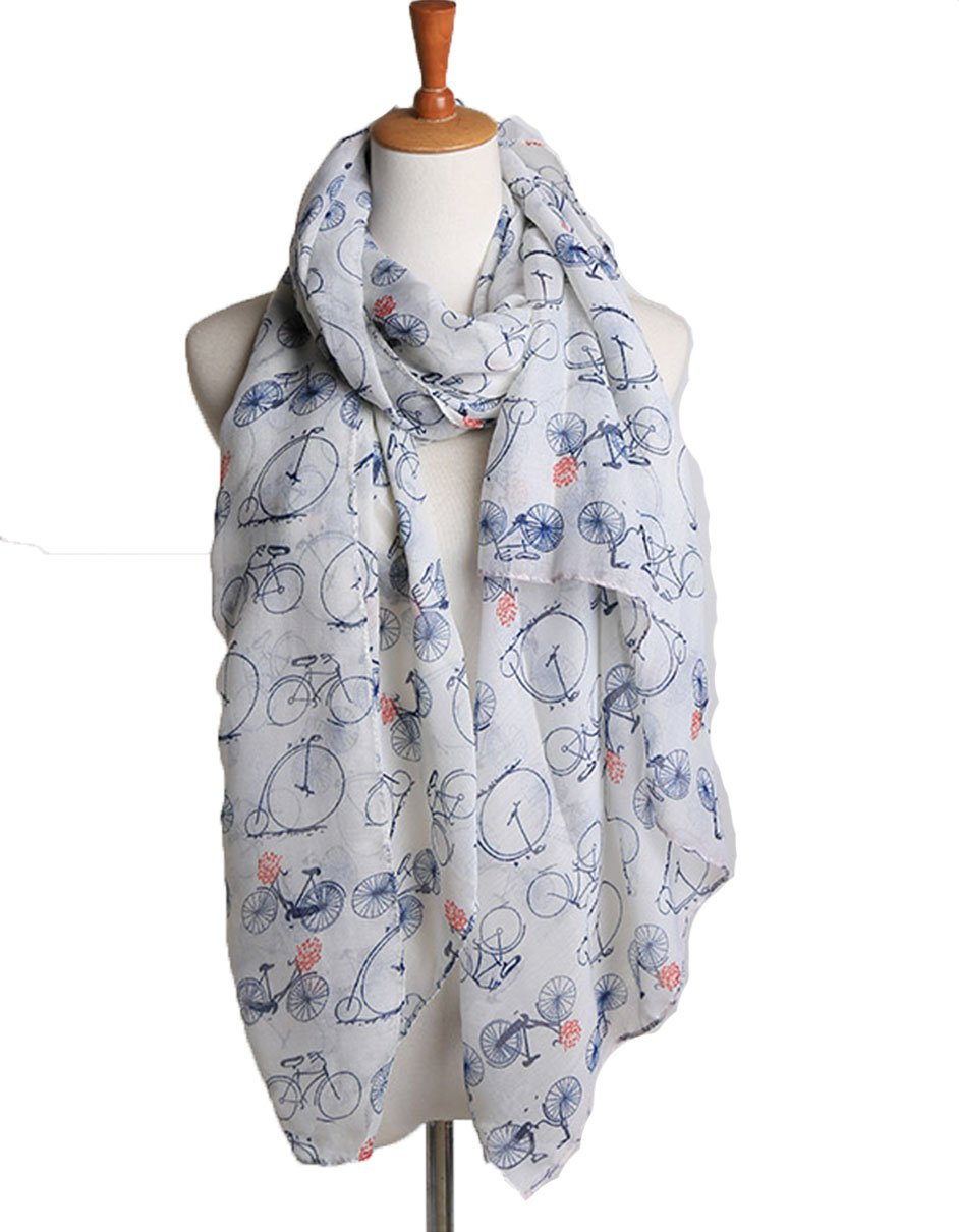 Apparelsales Women's Voile Penguin Print Scarf Wraps Muffler Shawl 74in(Length) 34in(Width) ColorA QLFA CA20151224-31