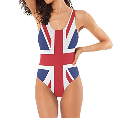Abbylife Custom British Flag One Piece Beach Bathing Suit Swimsuit for Women Girls at Amazon Women's Clothing store