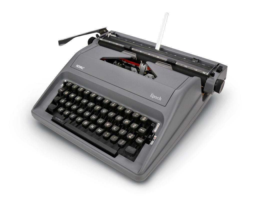 Royal Epoch Portable Manual Typewriter GRAY COLOR VERSION