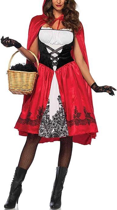 Faironly Disfraz De Halloween Para Mujer De Talla Grande Con Capucha De Equitacion Roja Oktoberfest Amazon Es Ropa Y Accesorios