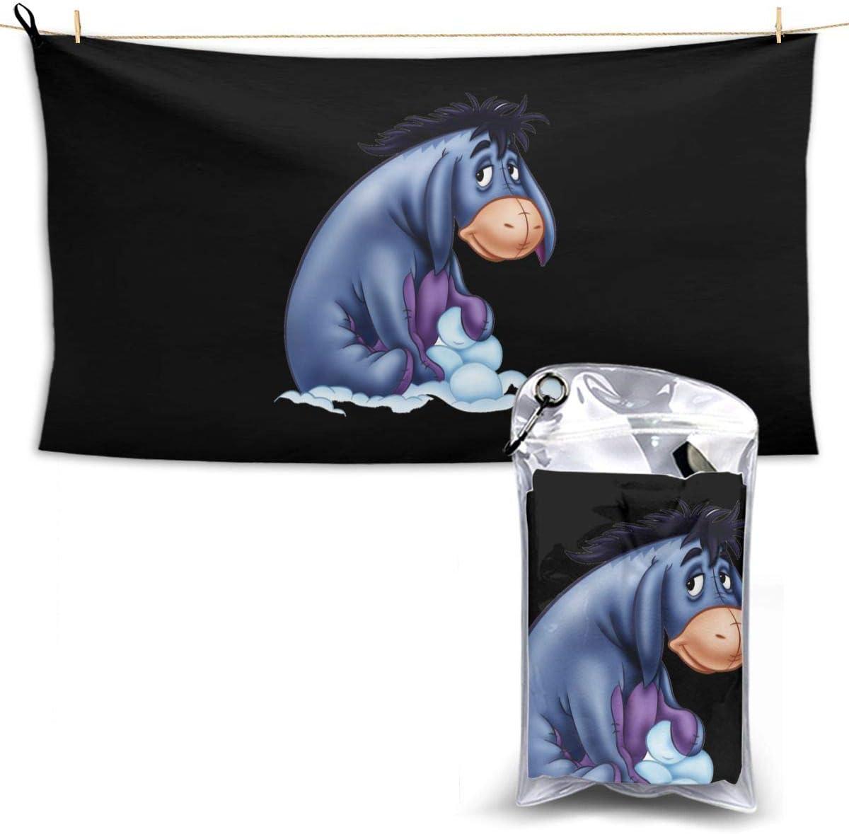N A Acmiran Eeyore Schal Handtuch Towel Schnelltrocknende Handt/¨/¹Cher Leichtes Und Schnell Trocknendes Badetuch Reisetuch