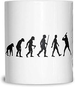 Sport Mug Evolution Of Baseball Homerun Batter American Series World Coffee Tea Cup White 11OZ