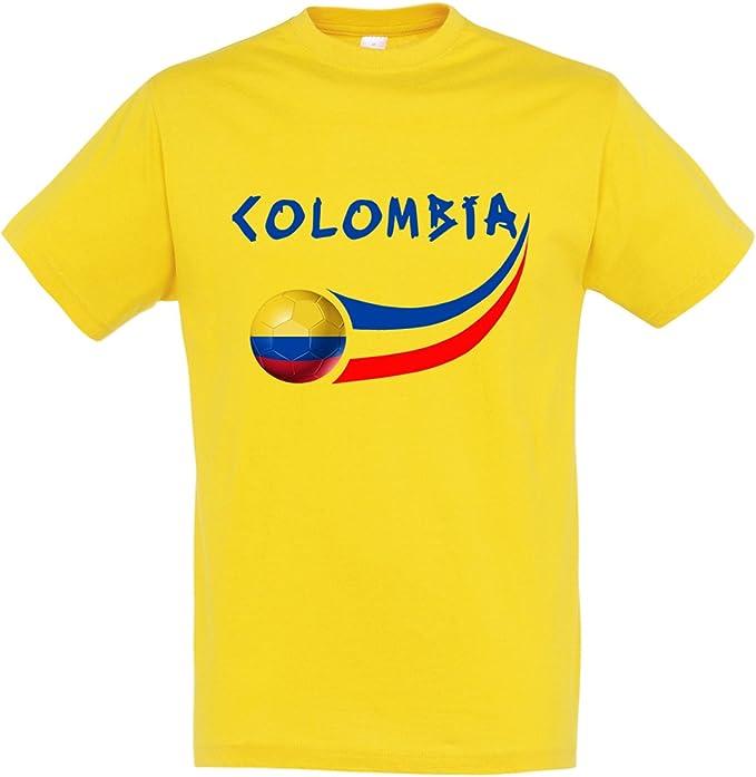 Supportershop - Camiseta de Colombia para niño (10 años), Color Amarillo: Amazon.es: Deportes y aire libre