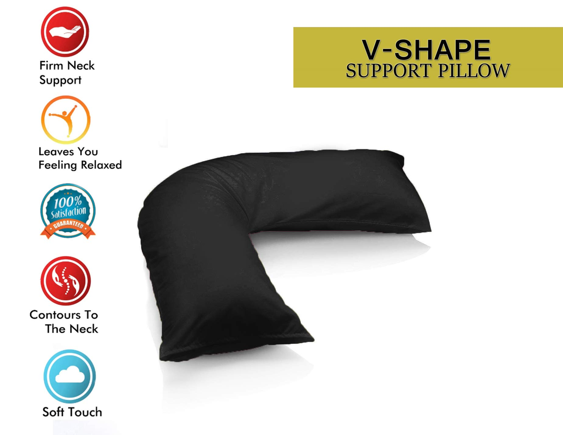 Back Neck Nursing V Shaped Support Pillow Case Pregnancy Reading Orthopaedic