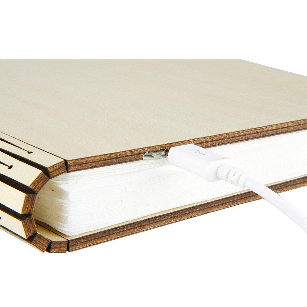 Paracity Wooden Folding Led Nightlight Book Light Illuminated Circuit Board Coffee Table Is Geek Diy Chic Decor Lampart Lightdecorative Lightsdesk Wall Magnetic Lamp Warm White