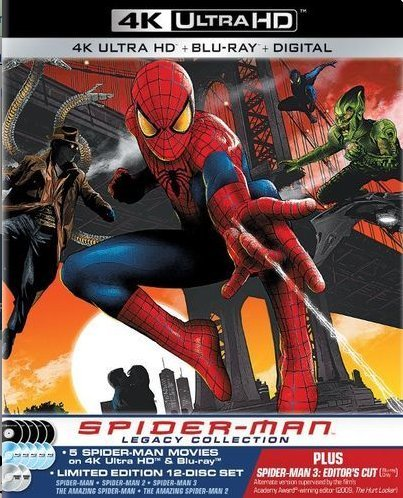 Spider-Man Legacy Collection [4K Ultra HD Blu-ray/Blu-ray] [SteelBook] by