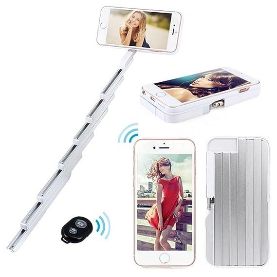 online store cdb40 4e623 Amazon.com: iPhone 7 Plus Selfie Stick Case, Retractable Selfie ...
