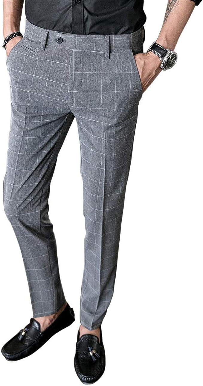 Missmaom Fashion2019 Herren Anzughose Hose Mit Bundfalte Slim Fit Bekleidung