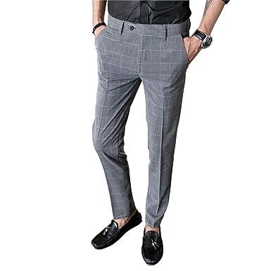 MISSMAOM_Fashion2019 Pantalones de Traje Hombre, Slim Fit ...
