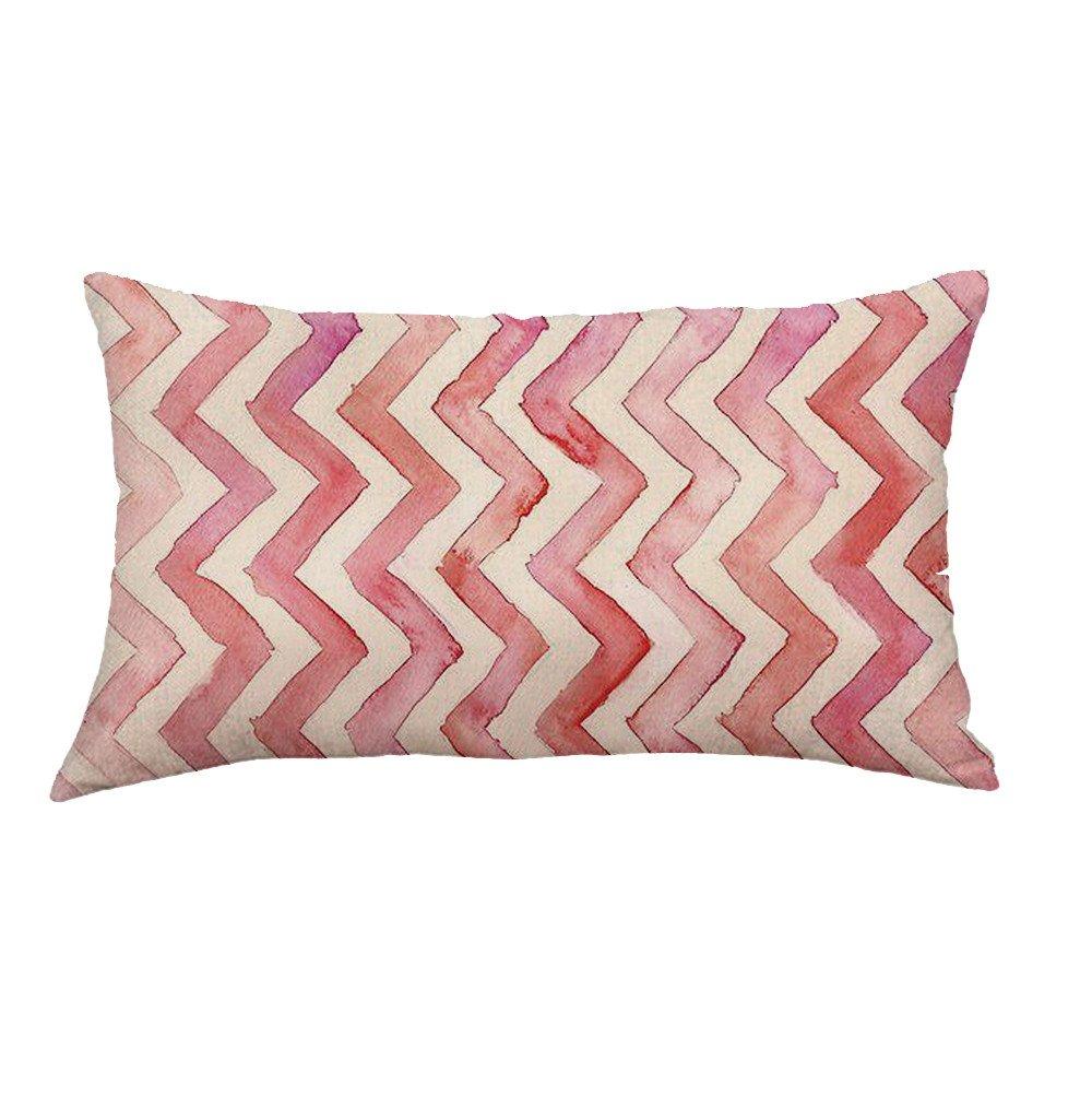 Tissu en Lin a wuayi Motif Rectangle d/écoratifs en Lin Couvre-lit Taies doreiller Housses de Coussin pour canap/é Home Decor 30x50cm