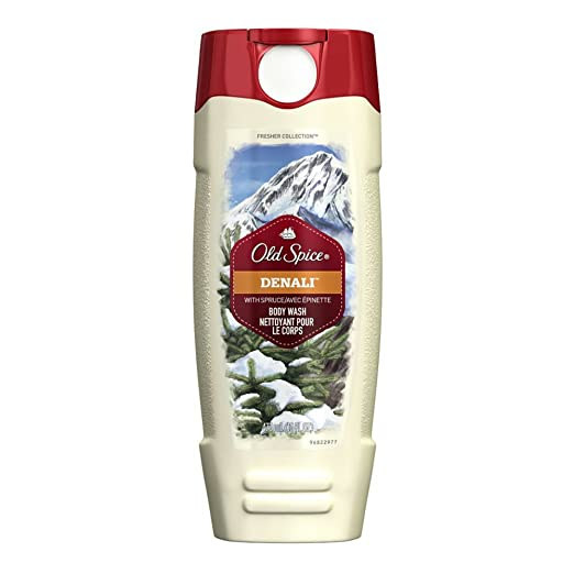 Old Spice Men's Body Wash, Denali Scent, 16 Oz (Pack of 4)