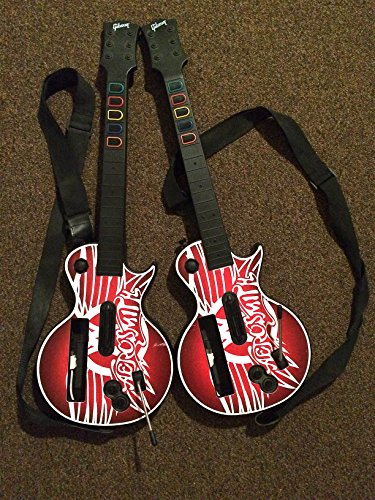 [Custom bundle of 2 Aerosmith Guitar Hero Controllers for Nintendo Wii] (Water Meter Costume)