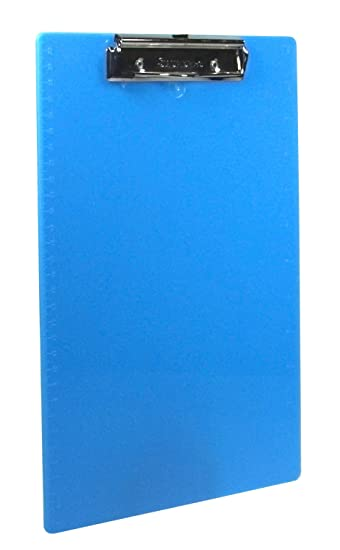 Saunders Plastic Clipboard With Low Profile Clip, Teal, Letter Size, 8.5  Inches X