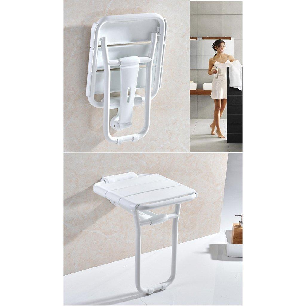 41 48cm Bad Klappsitz Alte Menschen Dusche Wand Stuhl Duschhocker Schuhbank Bemalte Stahlrohr Rost und Kompression Wirtschaftliche Ersparnis 36