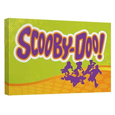 Amazon.com: Scooby Doo Running Scared Officially Licensed Canvas ...