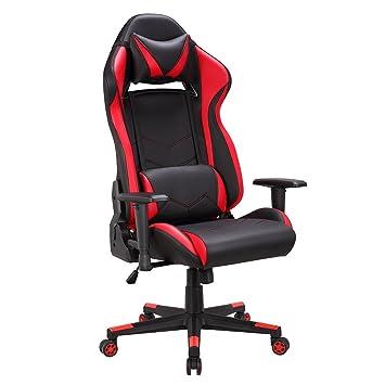 racing chaise de bureau avec assise large chaise gamer avec appui tte et soutien - Chaise De