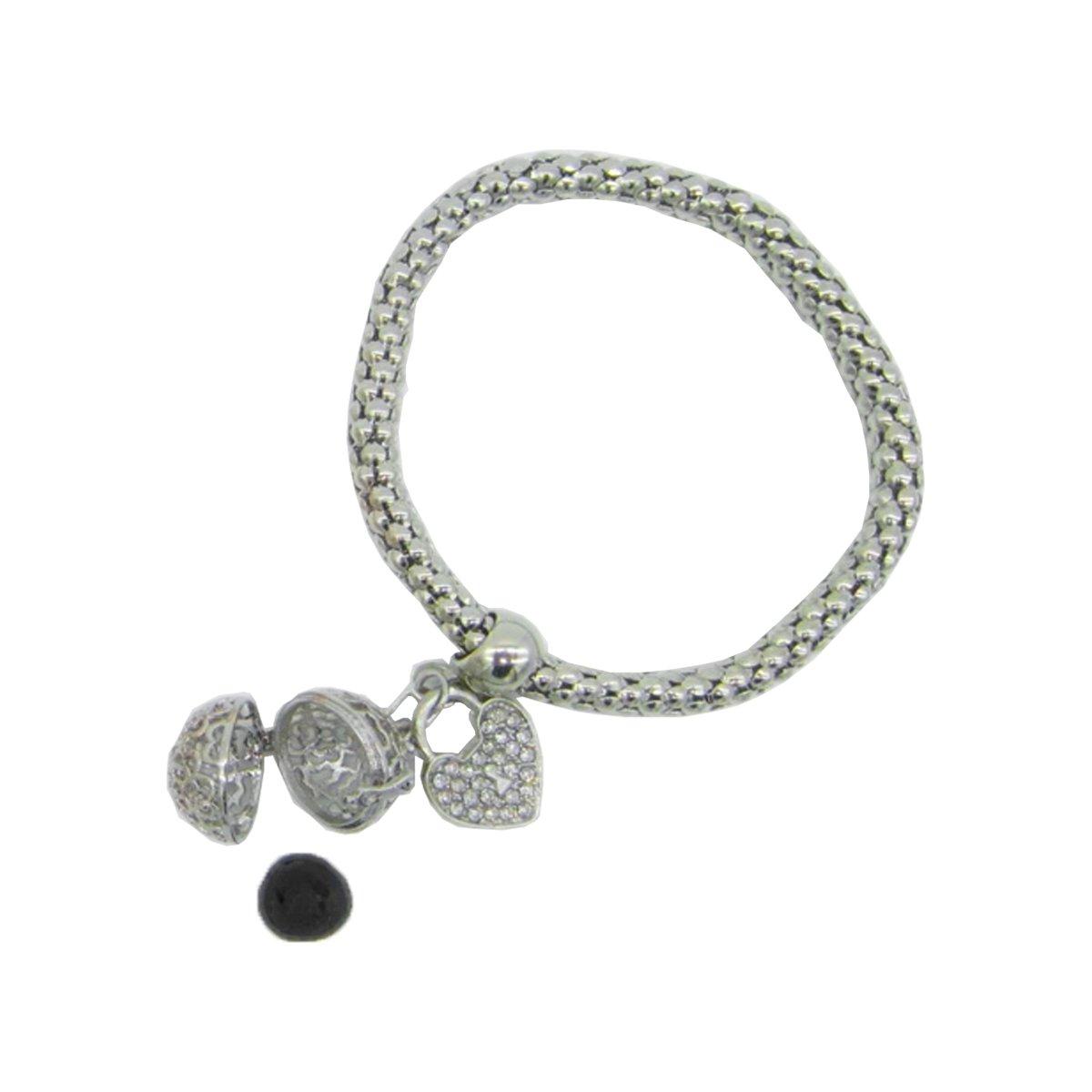 Amazon com: Wearable Scents Silver Charm Diffuser Bracelet w