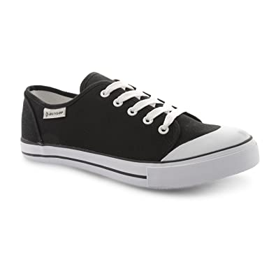 BALTIMORE Mens Classic Stylish Canvas Low Top Lace Up Casual Shoes All Black