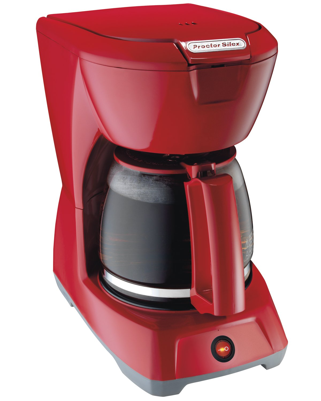 Proctor-Silex 12 Cup Coffeemaker, Red (43603) Hamilton Beach
