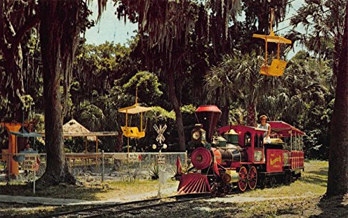 (Postcard Miniature Train and Chair Lift Ride in Lake Wales, Florida~117705)