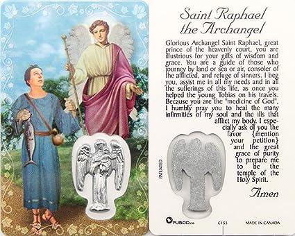 Saint Raphael the Archangel, Prayer Card