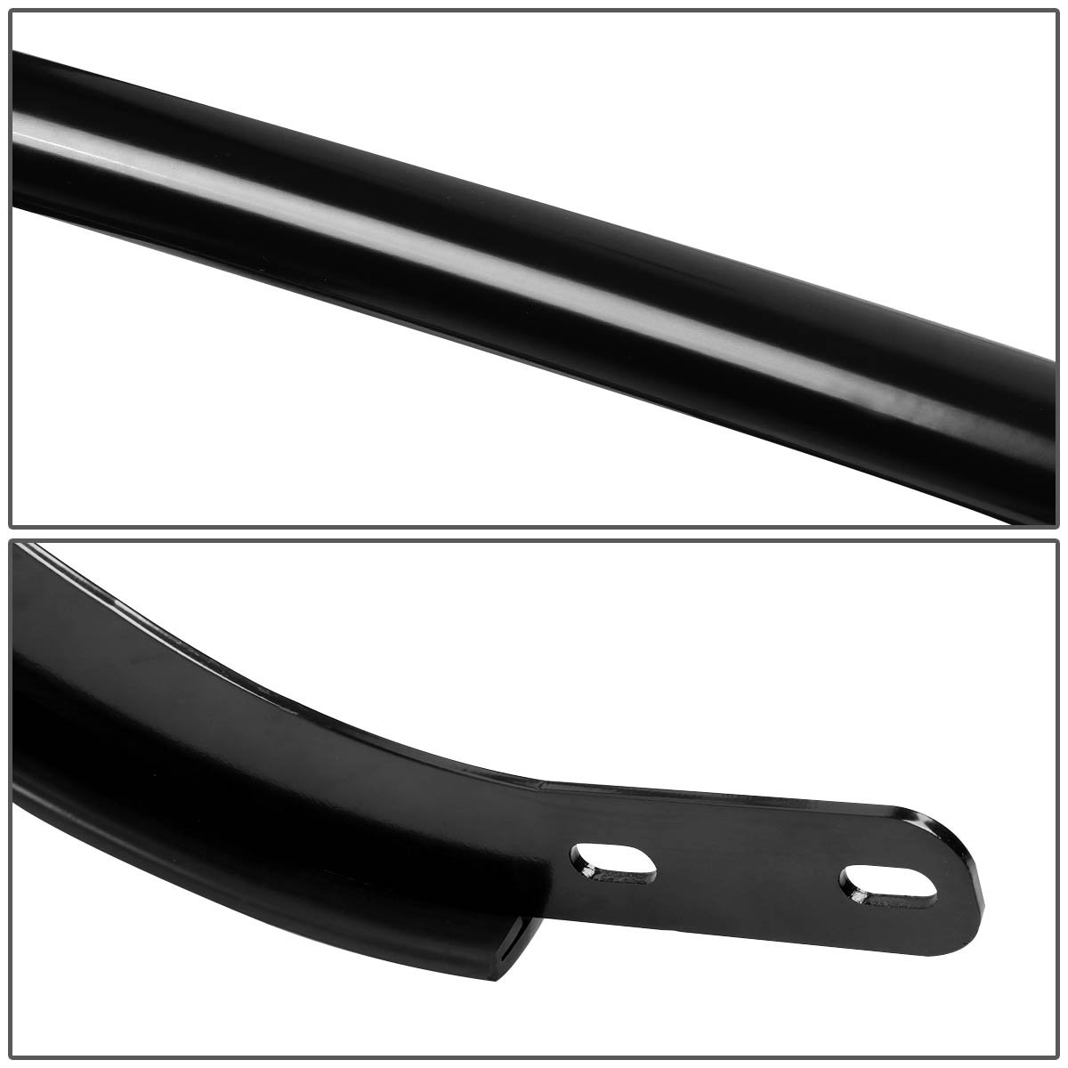 For Nissan Rogue Stainless Steel Double Bar Rear Bumper Protector Guard Black