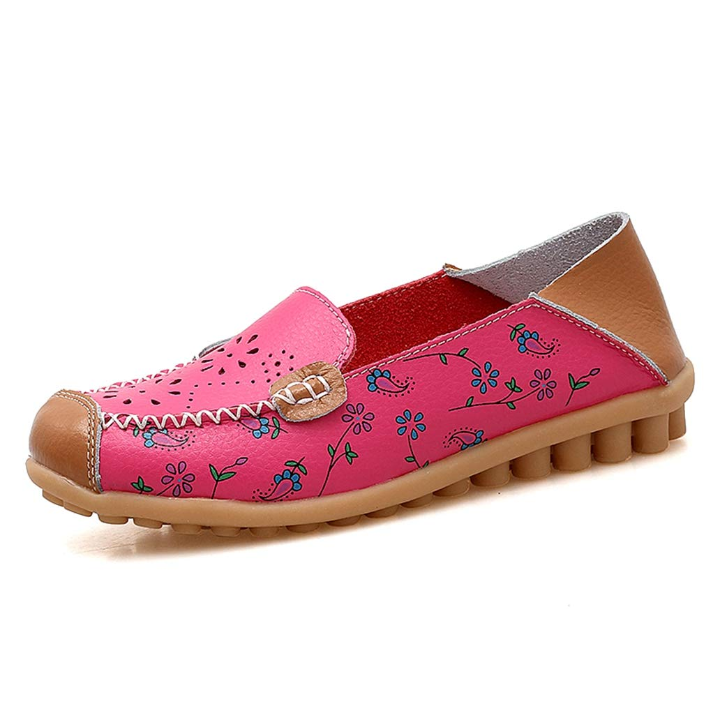 Women Flats Shoes Flower Hollow Casual Work Shoes Slip on Walking Loafers Shoes