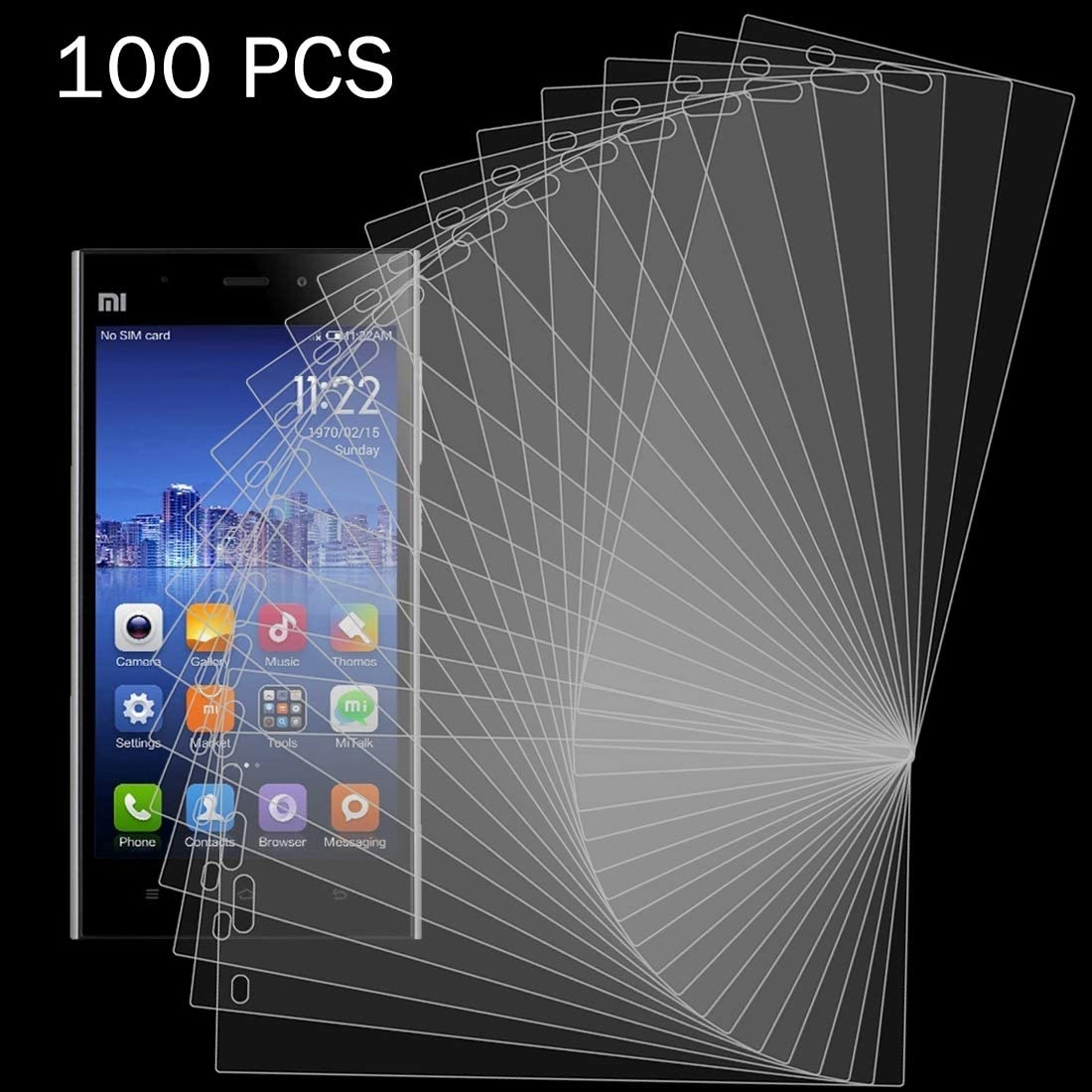 YSH Cell Phone Accessories 100 PCS 0.26mm 9H 2.5D Tempered Glass Film for Xiaomi Mi 8 Screen Protector for Xiaomi