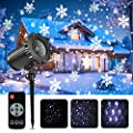 Christmas Projector Lights, Greenclick Snowflake Christmas Projector Light, Indoor Outdoor LED Landscape Lights with Remote for Bedroom Party Wedding Yard Garden Wall Decorations