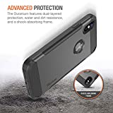 """Trianium Duranium Holster Case Compatible with iPhone Xs & iPhone X Case (5.8"""" Phone ONLY) [Heavy Duty Full-Body Protection] Built-in Screen Protector/Belt Clip Holder with Kickstand - Gunmetal"""