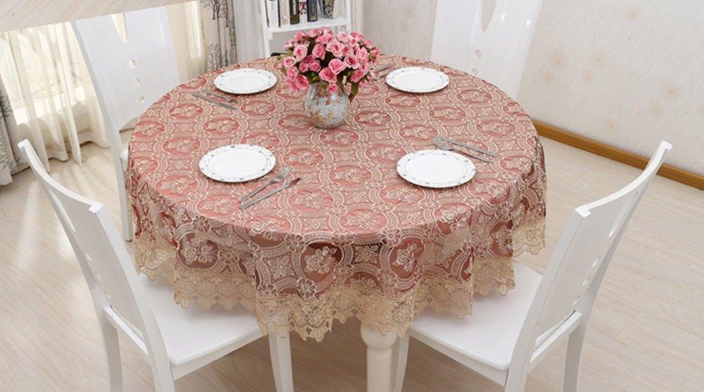 Vino tinto mantel hueco de moda ordenador paño de bordar tela de mesa redonda paño de café ( Tamaño : 200cm )
