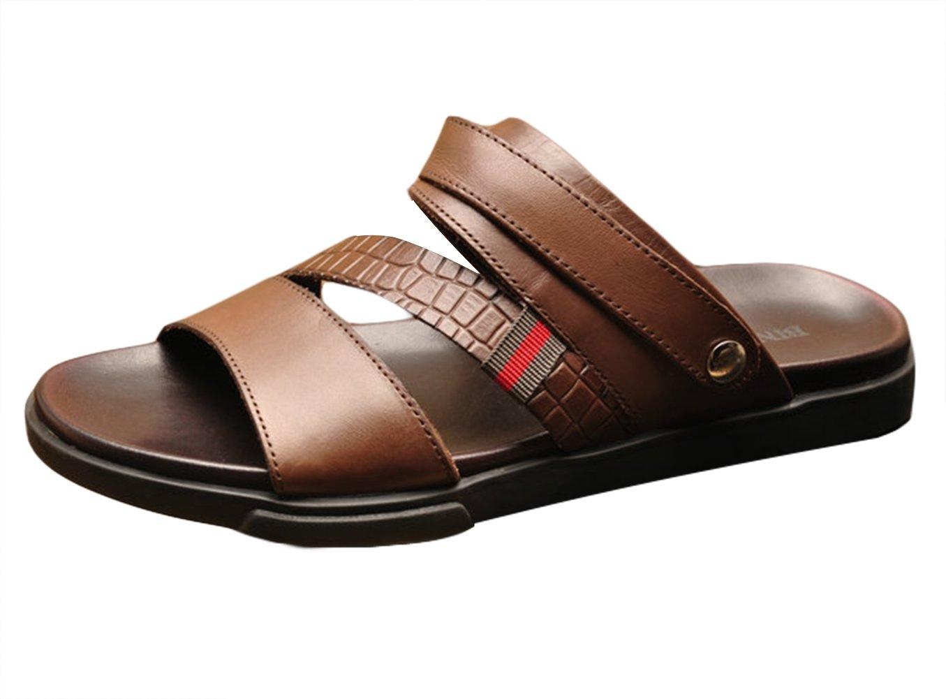 ICEGREY - Sandalias de Vestir de Caucho para Hombre 42 EU|Braun-19984