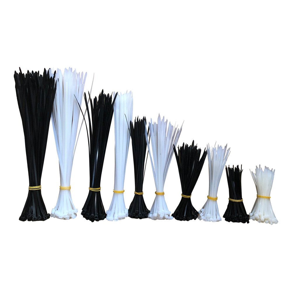 SZLhappyboy Zip Ties, Nylon Zip Cable Ties (4/6/8/10/12 inch), Black White Home Office Garage Workshop Heavy Duty Ties 600Pcs