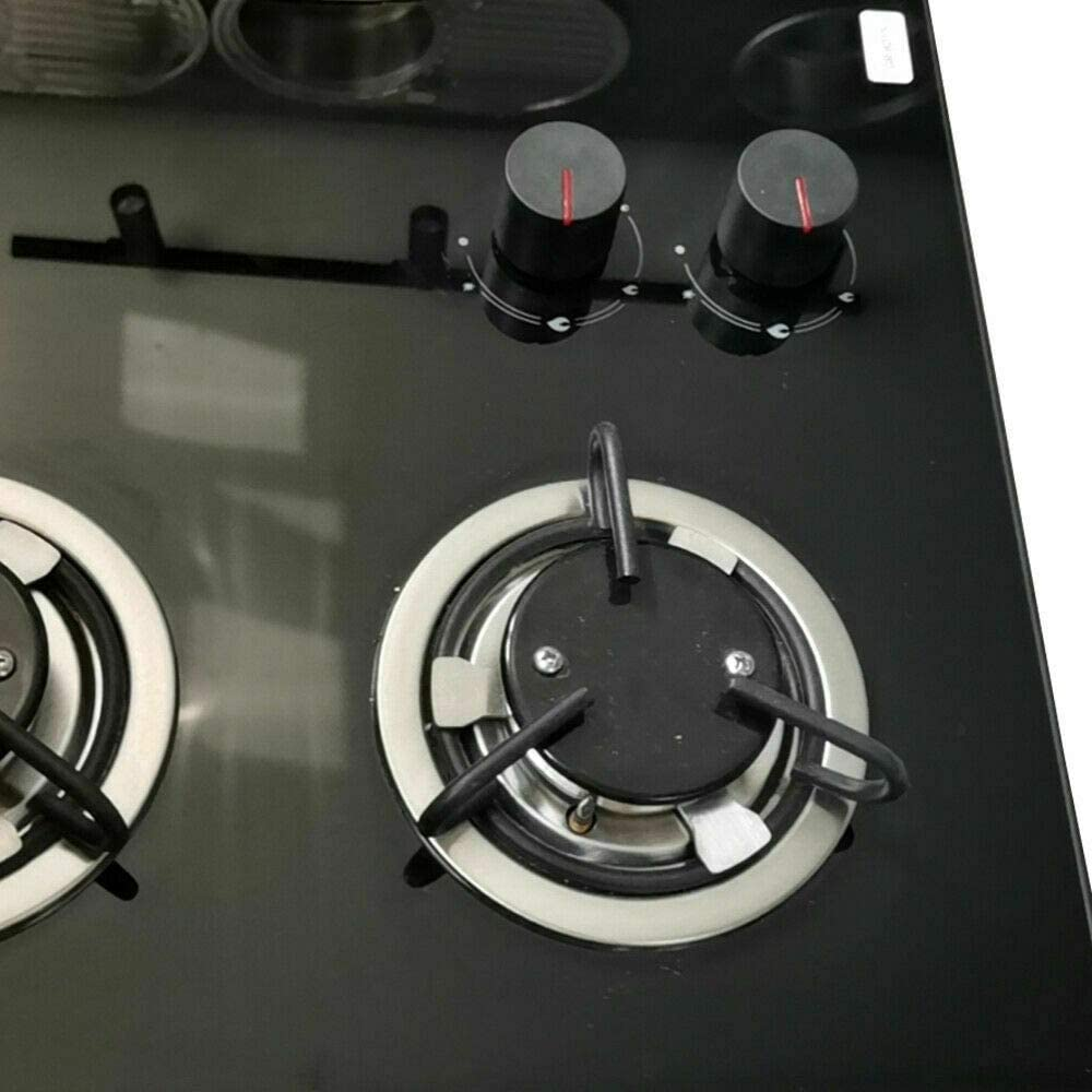 Gas Cooktop BTDH 28.7inches LPG Double Bur-ner Gas Stove Hob w//Tempered Glass Surface for RV Outdoor Kitchen Boat Caravan Camper Knob-Control Easy to use/&Clean Multi-Protection