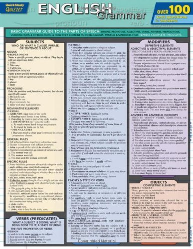 Download By Inc. BarCharts English Grammar Quizzer (Quick Study: Quizzer) (Lam Chrt) [Paperback] PDF