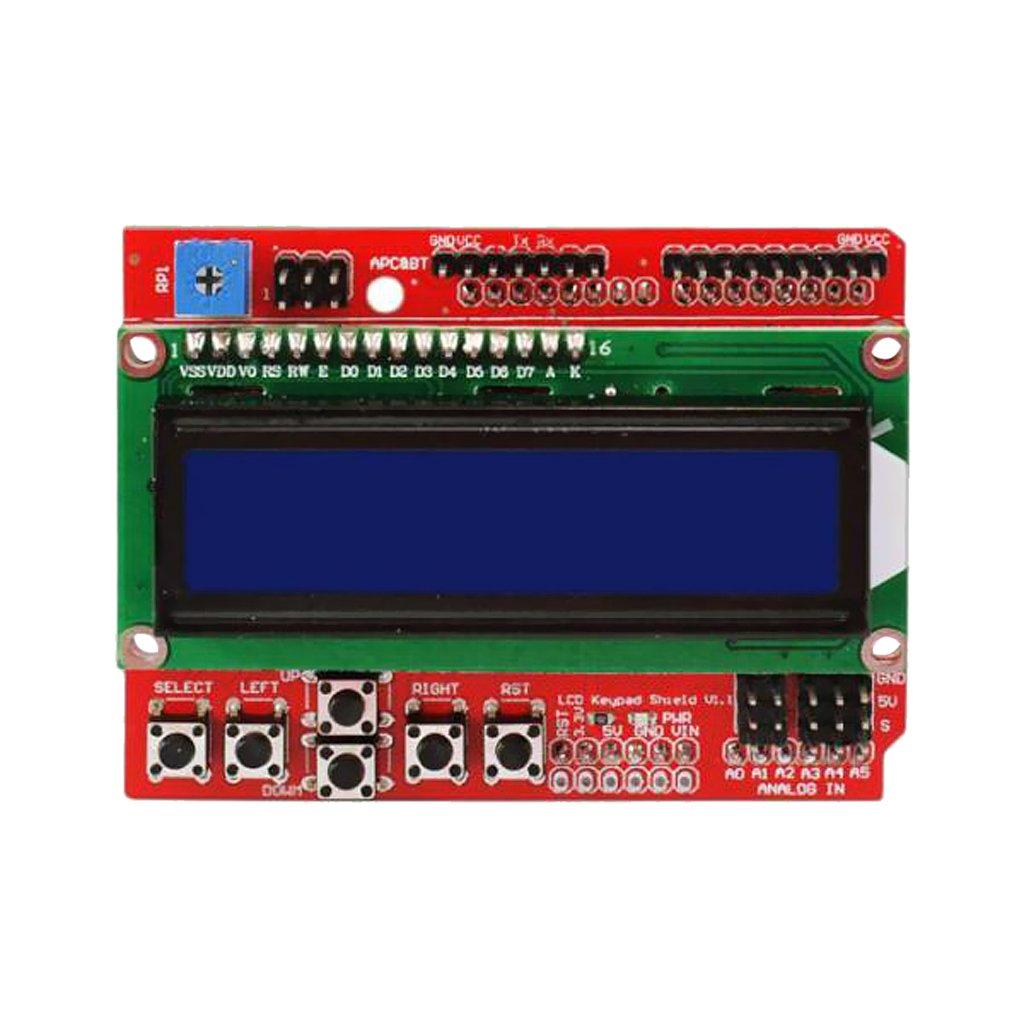 MonkeyJack 1602 LCD w/ Keypad Shield Board Blue Backlight for Arduino Duemilanove Robot