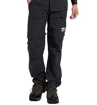 Hilarocky Pantalones Hombres Largo   Corto Impermeable Senderismo Táctico  Camuflaje Secado Rápido Fino y Transpirable para e66aac1c6726