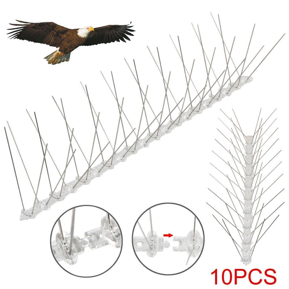 Popamazing 5M Stainless Steel Bird Spikes Kit Fence Wall Perfect ...