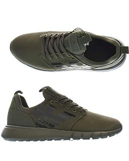 16cf4eebcf28 Emporio Armani EA7 Men s Shoes Trainers Sneakers Green UK Size 9 ...