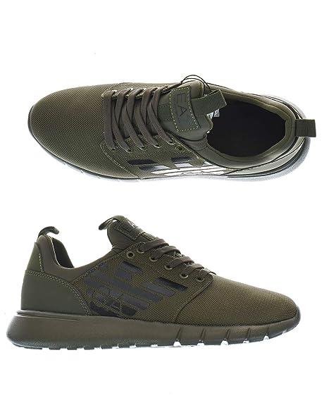 Emporio Armani Zapatillas Sneakers ea7 Hombre X8 X 008 xk008 00044 Green: Amazon.es: Zapatos y complementos