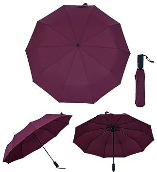 Fold totalmente automática paraguas Resistencia al viento grande de los hombres de negocios ms de tres