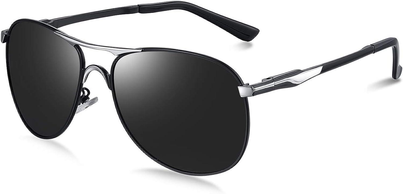 WHCREAT Mens Driving Polarized Sunglasses Classic Sports Pilot Glasses 100/% UV400 Eyewear